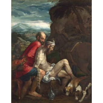 religious paintings - Picture -El Buen Samaritano (The Good Samaritan)- - Bassano, Jacopo da Ponte