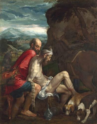 quadros-religiosos - Quadro -El Buen Samaritano (The Good Samaritan)- - Bassano, Jacopo da Ponte