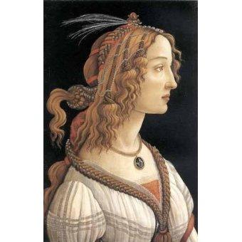- Quadro -Retrato femenino- - Botticelli, Alessandro
