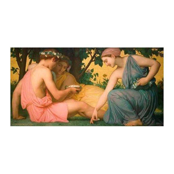 pinturas do retrato - Quadro -La primavera (Le printemps), 1858-