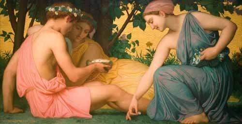 pinturas-de-retratos - Quadro -La primavera (Le printemps), 1858- - Bouguereau, William