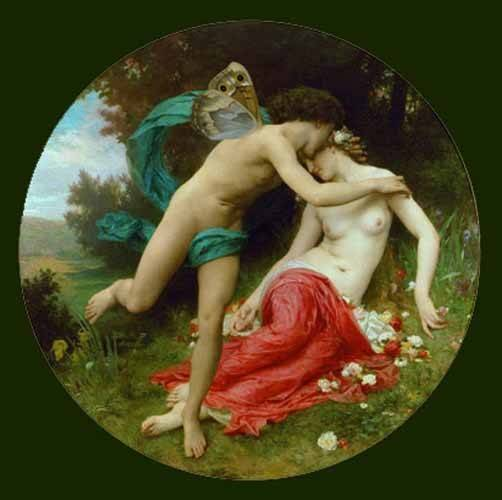 pinturas-de-retratos - Quadro -Flora and Zephir- - Bouguereau, William