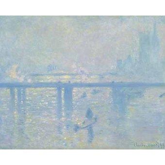 quadros de paisagens marinhas - Quadro -Charing Cross Bridge, 1899- - Monet, Claude
