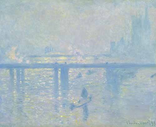 quadros-de-paisagens - Quadro -Charing Cross Bridge, 1899- - Monet, Claude