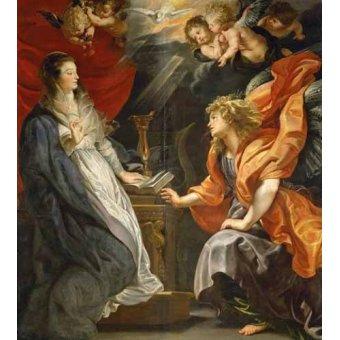 quadros religiosos - Quadro -Anunciacion, 1609- - Rubens, Peter Paulus