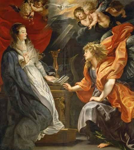 quadros-religiosos - Quadro -Anunciacion, 1609- - Rubens, Peter Paulus
