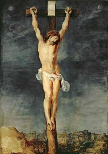 quadros-religiosos - Quadro -Cristo en la cruz- - Rubens, Peter Paulus