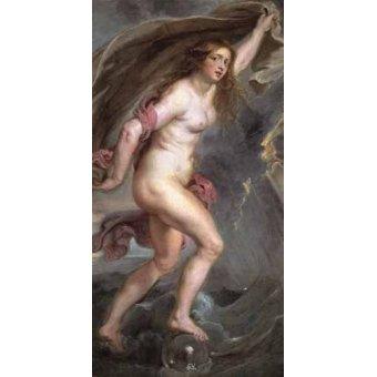 quadros nu artistico - Quadro -La Fortuna- - Rubens, Peter Paulus