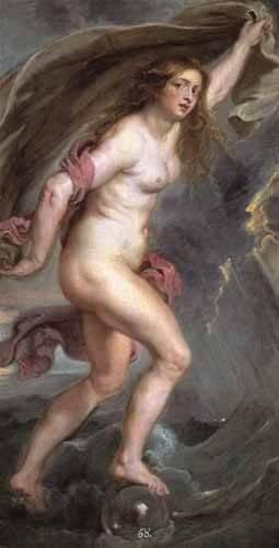 pinturas-de-retratos - Quadro -La Fortuna- - Rubens, Peter Paulus