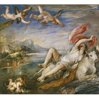 - Quadro -El rapto de Europa- - Rubens, Peter Paulus