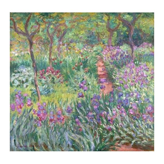 pinturas de paisagens - Quadro -The Iris Garden at Giverny-