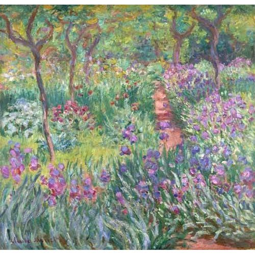 Quadro -The Iris Garden at Giverny-