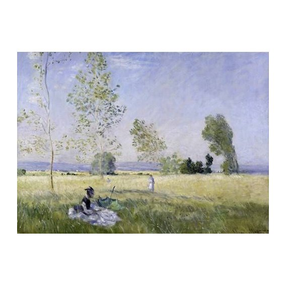 pinturas de paisagens - Quadro -Summer, 1874-
