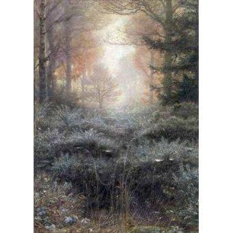 - Quadro -Dew-Drenched Furze- - Millais, John Everett