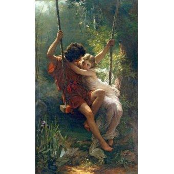 pinturas de retratos - Quadro -Primavera- - Cot, Pierre-Auguste