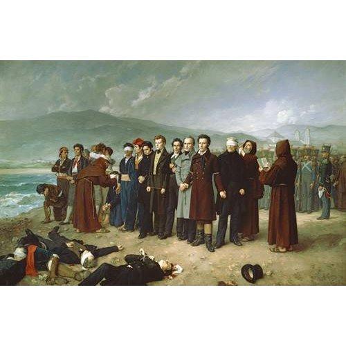 Quadro -Fusilamientos de Torrijos y sus compañeros en las playas de mal