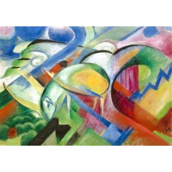 abstracts paintings - Picture -The Sheep- - Marc, Franz