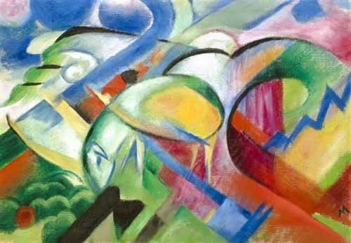 quadros-abstratos - Quadro -The Sheep- - Marc, Franz