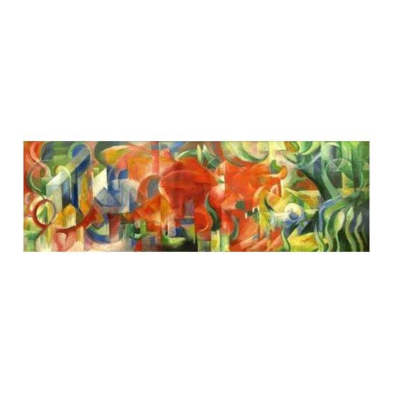 pinturas abstratas - Quadro -Spielende Formen, 1914-