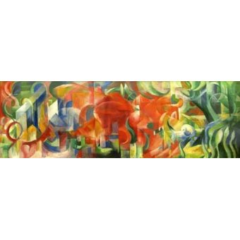 abstracts paintings - Picture -Spielende Formen, 1914- - Marc, Franz