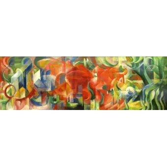 Quadros abstratos - Quadro -Spielende Formen, 1914- - Marc, Franz