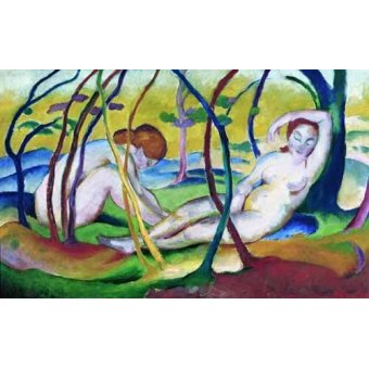 - Quadro -Nudes under Trees, 1911- - Marc, Franz