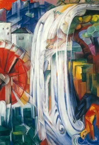 quadros-de-paisagens - Quadro -The Bewitched Mill, 1913- - Marc, Franz
