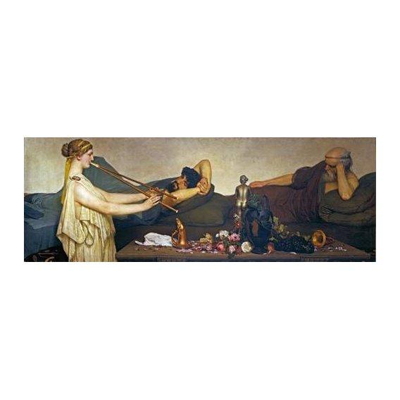 pinturas do retrato - Quadro -La siesta, Escena Pompeyana-