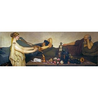 - Quadro -La siesta, Escena Pompeyana- - Alma-Tadema, Lawrence