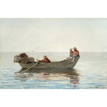 imagens de mapas, gravuras e aquarelas - Quadro -Three Boys in a Dory with Lobster Pots, 1875- - Homer, Winslow