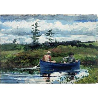 imagens de mapas, gravuras e aquarelas - Quadro -The Blue Boat, 1892- - Homer, Winslow