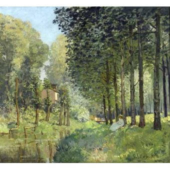 - Quadro -Rest along the Stream Edge of the Wood, 1878- - Sisley, Alfred