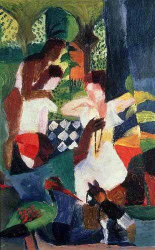 abstracts paintings - Picture -The turkish jeweller- - Macke, August