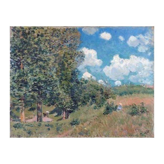 pinturas de paisagens - Quadro -The Road from Versailles to Saint-Germain, 1875-