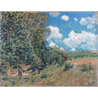 - Quadro -The Road from Versailles to Saint-Germain, 1875- - Sisley, Alfred