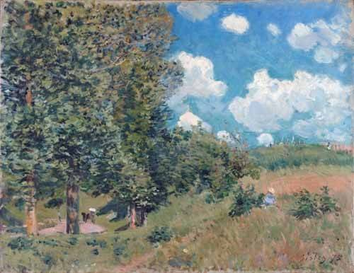 quadros-de-paisagens - Quadro -The Road from Versailles to Saint-Germain, 1875- - Sisley, Alfred