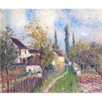 - Quadro -Un sentier aux Sablons (A path at Les Sablons), 1883- - Sisley, Alfred