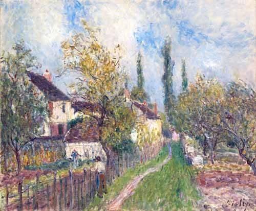 quadros-de-paisagens - Quadro -Un sentier aux Sablons (A path at Les Sablons), 1883- - Sisley, Alfred