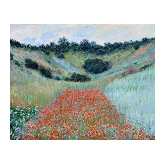 pinturas de paisagens - Quadro -Poppy Field in a Hollow near Giverny, 1885-