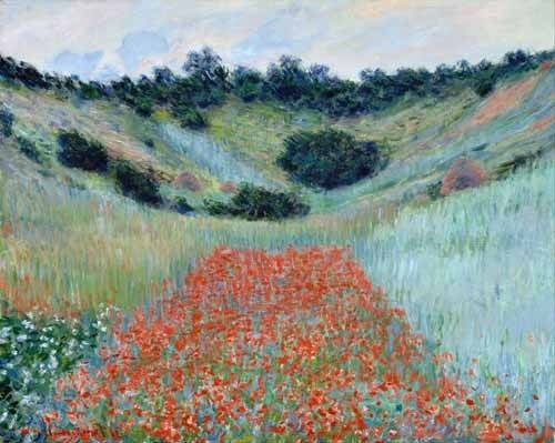 quadros-de-paisagens - Quadro -Poppy Field in a Hollow near Giverny, 1885- - Monet, Claude