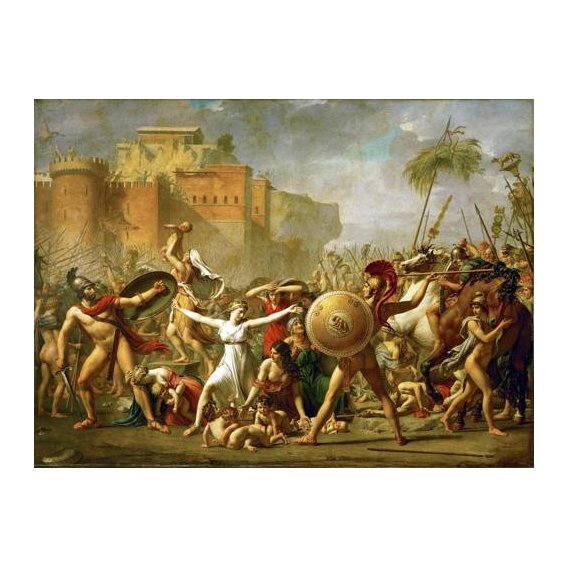 pinturas do retrato - Quadro -The Sabine women halting the battle between Romans and Sabines,