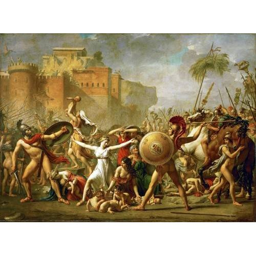 Quadro -The Sabine women halting the battle between Romans and Sabines,