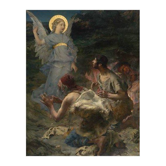 imagens religiosas - Quadro -La Anunciación a Los Pastores, 1875-