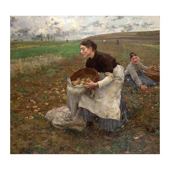 pinturas do retrato - Quadro -October, 1878-