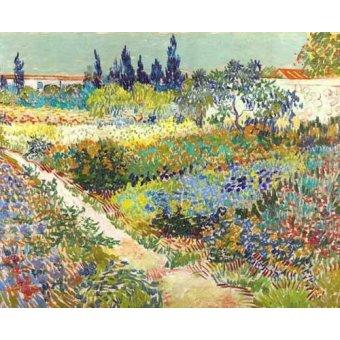 - Quadro -Garden at Arles, 1888- - Van Gogh, Vincent