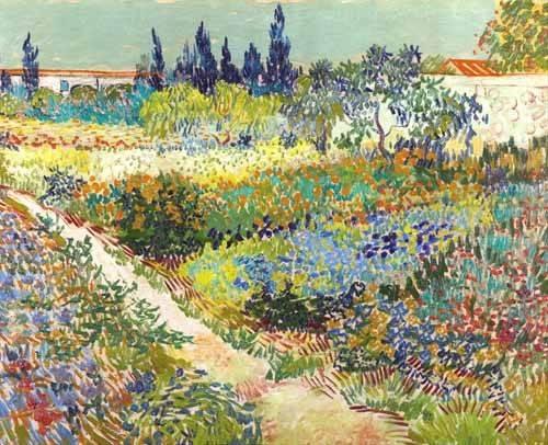 quadros-de-paisagens - Quadro -Garden at Arles, 1888- - Van Gogh, Vincent