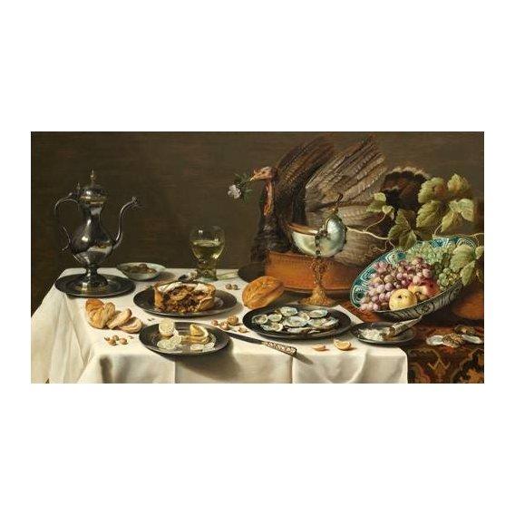cuadros de bodegones - Cuadro -Bodegon con pastel turco, 1627-