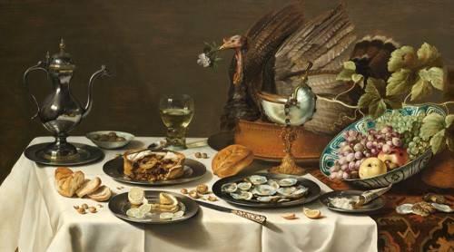 cuadros de bodegones - Cuadro -Bodegon con pastel turco, 1627- - Heda, Willem Claesz