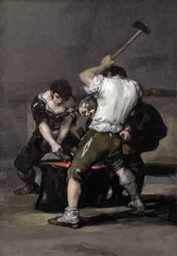 pinturas-de-retratos - Quadro -La_fragua, 1815-1820- - Goya y Lucientes, Francisco de