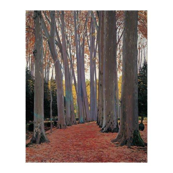 pinturas de paisagens - Quadro -Avenue of Plane Trees, 1916-